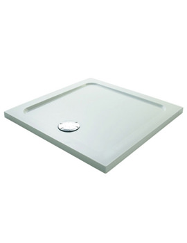 Mira Flight Safe Square Shower Tray 800 x 800mm White - 1.1697.010.AS