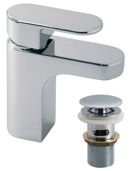 Life Deck Mounted Mono Basin Mixer Tap With Clic-Clac Waste