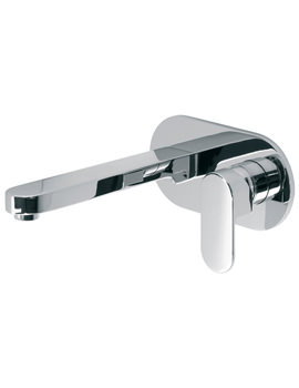 Life Wall Mounted 2 Hole Basin Mixer Tap 200mm
