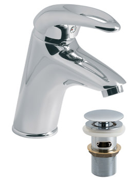 Magma Mono Basin Mixer Tap With Click-Clac Waste