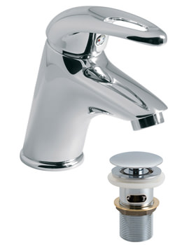Magma Mini Mono Basin Mixer Tap With Clic Clac Waste