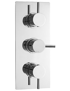 Quest Triple Concealed Thermostatic Shower Valve With Diverter