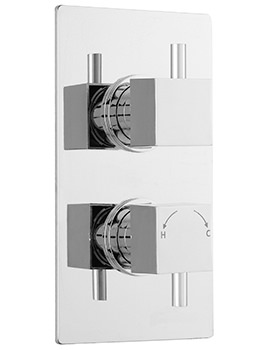 Related Ultra Pioneer Square Twin Concealed Thermostatic Valve With Diverter