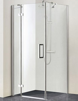 Aqua 8 Vibe Pivot Shower Door 900mm - 1159245