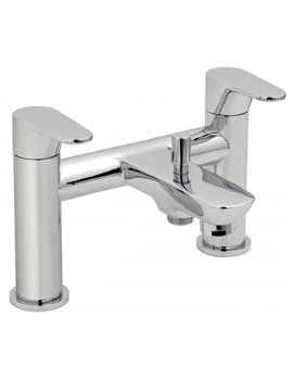 Ascent Deck Mounted 2 Hole Bath Shower Mixer Tap