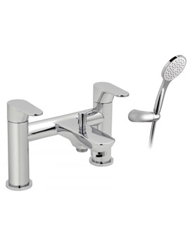 Ascent Deck Mounted 2 Hole Bath Shower Mixer Tap With Kit