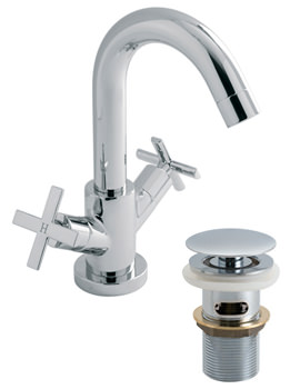Tonic Mono Basin Mixer Tap With Clic-Clac Waste