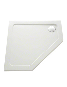 Flight Low Pentagon Shower Tray 900 x 900mm - 1.1697.016.WH