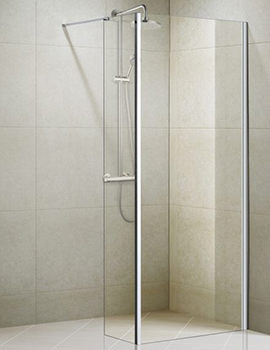 Aqualux Aqua 8 Vibe Walk In Shower Panel 900mm - 1159237