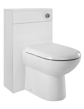 Related Ultra Marvel High Gloss White Back-To-Wall WC Unit 500mm - BTW019