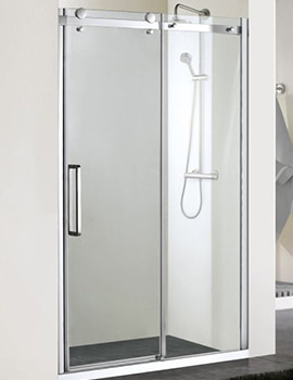 Aqua 8 Vibe Sliding Shower Door 1400mm - 1159254