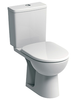E100 Square Standard Close Coupled WC Pan 670mm And Cistern