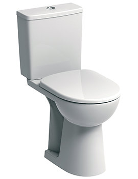 E100 Square Raised 460mm Height Close Coupled WC Suite