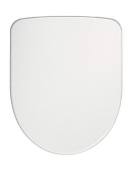 Twyford E100 Round Toilet Seat And Cover With Metal Top Fix Hinge
