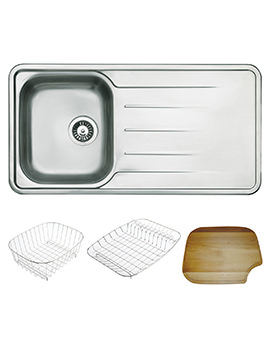 Astracast Topaz 1.0 Bowl Stainless Steel Inset Sink And Accessories
