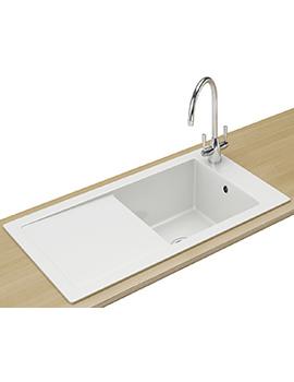Aspen Designer Pack ANK 611 1.0 Bowl Ceramic White Inset Sink And Tap