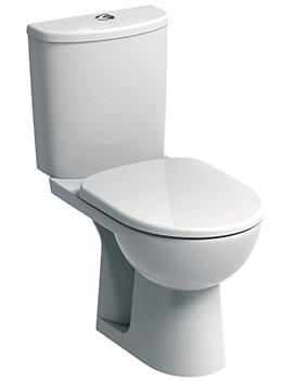 E100 Round Standard Close Coupled WC Pan 670mm And Cistern