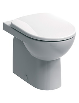 E100 Round Flushwise Back-To-Wall WC Pan 530mm