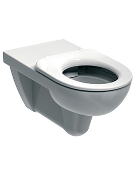 E100 Round Rimless Flushwise Wall Hung WC Pan 700mm