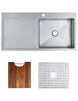 Related Astracast Vantage 1.0 Bowl Stainless Steel Inset Sink And Accessory