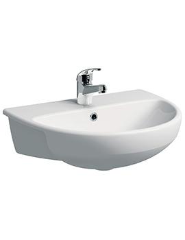 E100 Round 550 x 440mm Semi-Recessed Basin