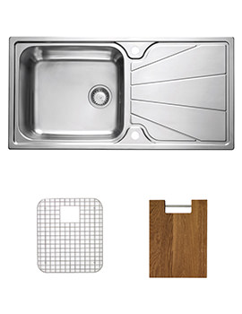 Related Astracast Korona 1.0 Bowl Stainless Steel Inset Sink And Accessories