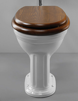 Sophisticated Dark Wood Toilet Seat Soft Close Contemporary   Image .