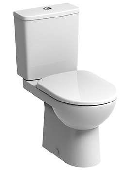E100 Square Premium Close Coupled WC Pan 680mm And Cistern
