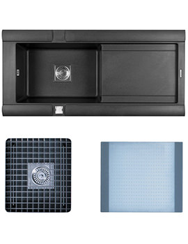 Related Astracast Geo 1.0 Bowl Composite ROK Metallic Inset Sink And Accessories