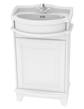 Traditional 1903 - 50 Basin Vanity Unit With Door And Plinth