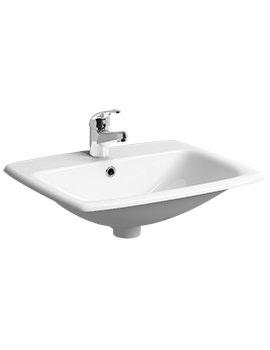 E100 Square 550 x 450mm 1 Centre Tap Hole Countertop Basin