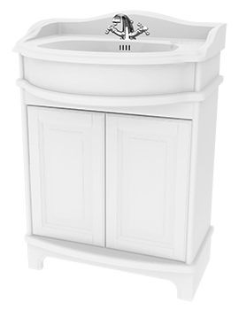 Traditional 1903 - 65 Basin Vanity Unit With Doors And Plinth