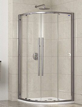 Linea Touch Quadrant Twin Door 800 x 800mm - 1910800500