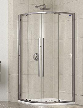 Linea Touch Quadrant Twin Door 800 x 800mm - 1910800500