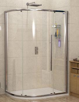 Linea Touch Offset Quadrant Single Door 900 x 800mm