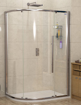 Linea Touch Offset Quadrant Single Door 1000 x 800mm