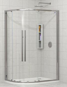 Showerlux Linea Touch Offset Quadrant Twin Door 900 x 800mm