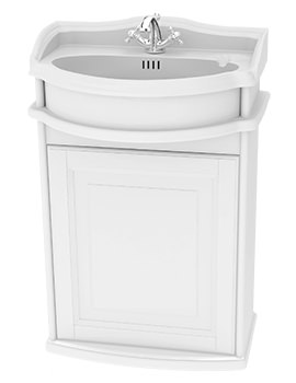 Traditional 1903 - 50 Wall Hung Basin Vanity Unit With Door