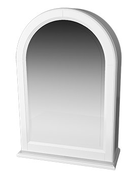 Traditional 1903 White Arched Framed Mirror Cabinet 494 x 706mm