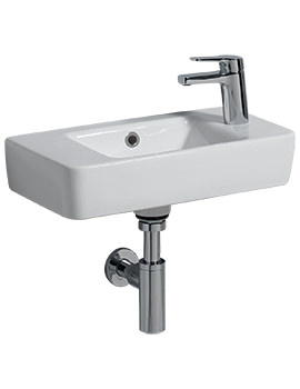 Related Twyford E200 500 x 250mm 1 RH Tap Hole Washbasin With Centre Bowl