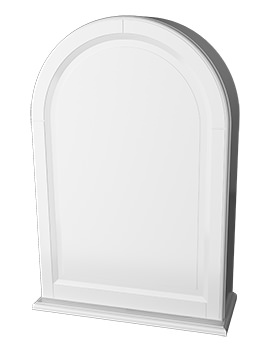 Traditional 1903 White Arched Framed Cabinet 494 x 706mm