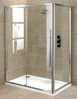 Showerlux Linea Touch Single Slider Shower Door 1400mm - 1851400500