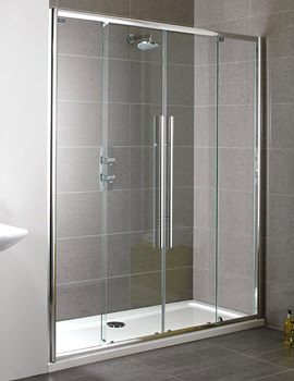 Showerlux Linea Touch Twin Slider Shower Door 1700mm - 1861700500