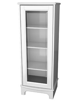 Traditional 1903 Display Cabinet With Plinth 439 x 1155mm