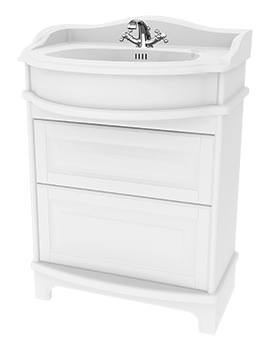 Traditional 1903 - 65 Basin Vanity Unit With Drawers And Plinth