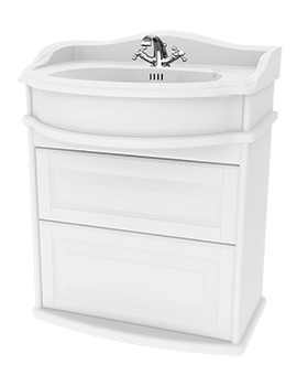 Traditional 1903 - 65 Wall Hung Basin Vanity Unit With Drawers