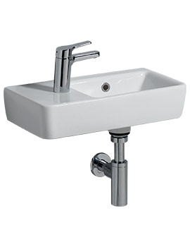 E200 500 x 250mm 1 LH Tap Hole Washbasin With RH Bowl