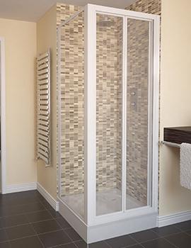 Related Aqualux Aqua 4 Bi-fold Door And Side Panel 760 x 760mm White