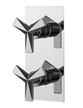 Hemsby Dual Control Chrome Recessed Thermostatic Shower Valve