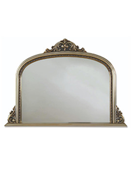 Archway Champagne Silver Wooden Framed Mirror 1270 x 910mm